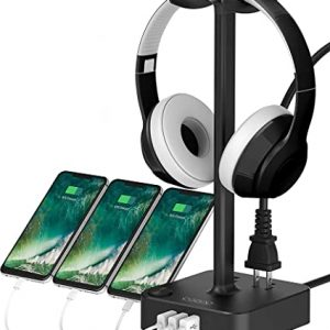 Headphone Stand with USB Charger COZOO
