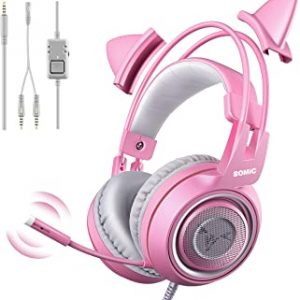 SOMIC G951s Pink Stereo Gaming Headset